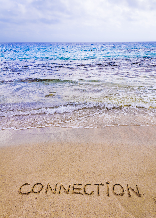 Connection-Word-Written-On-Sand